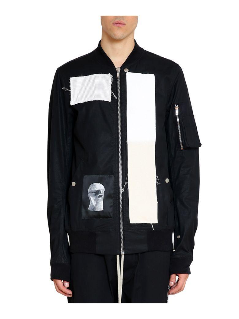 Drkshdw Teth Cotton Bomber Jacket In Nero
