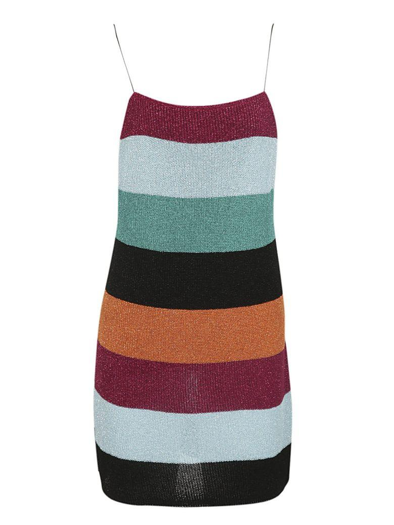 Laneus Knitted Dress In Multicolor