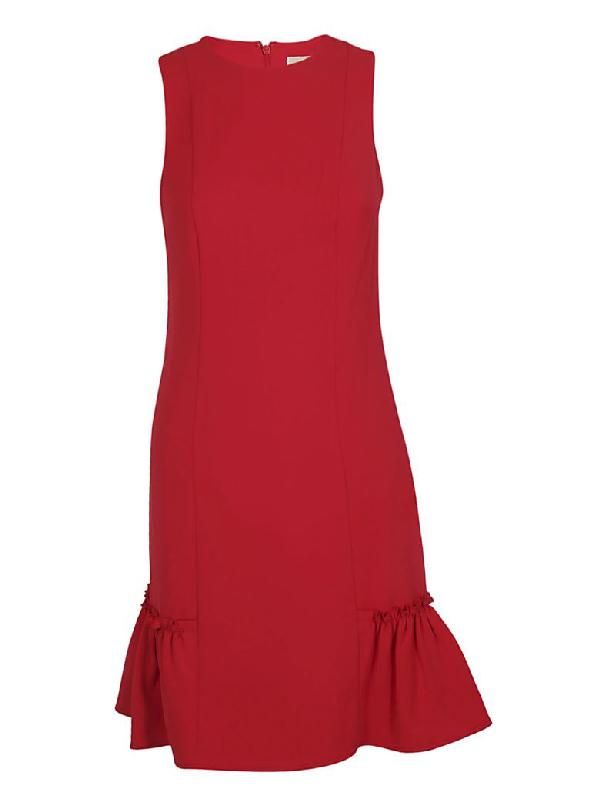 Michael Kors Ruffle Detail Dress In Red