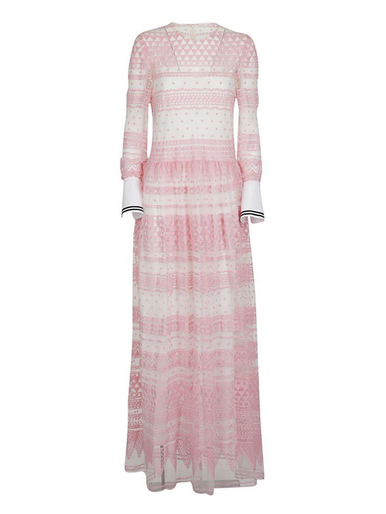 Philosophy Di Lorenzo Serafini Philosophy Embroidered Flared Dress In Pink