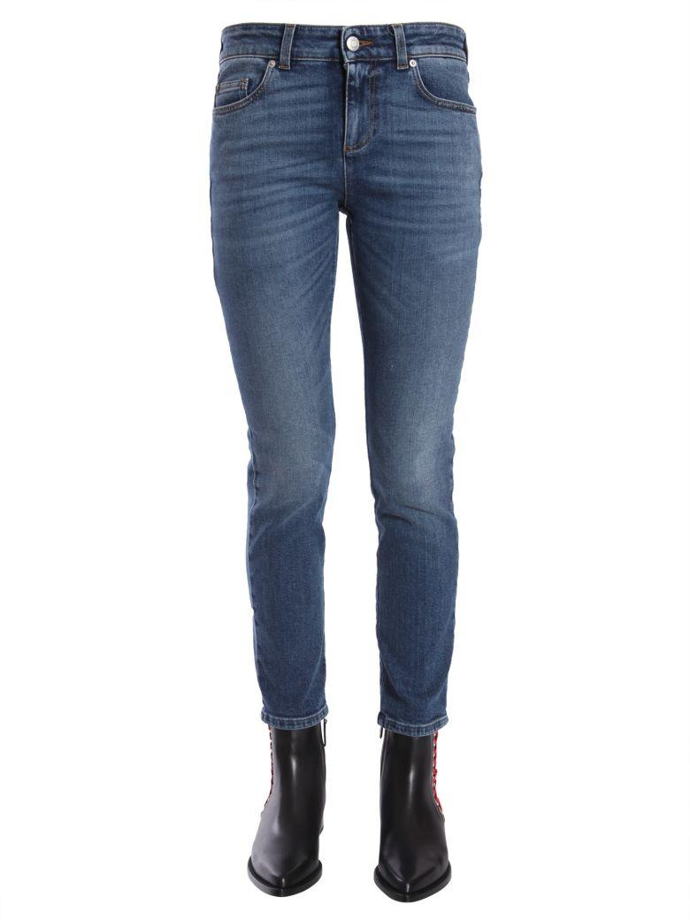 Alexander Mcqueen Slim Fit Jeans In Blu