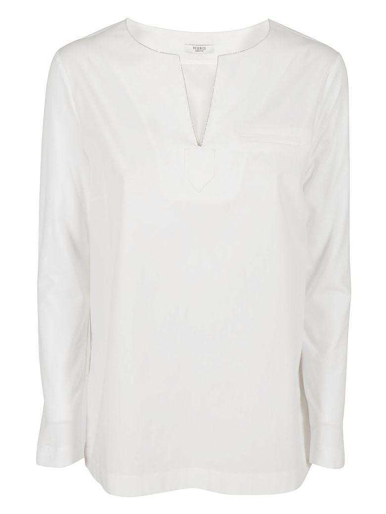 Peserico V-neck Blouse In White