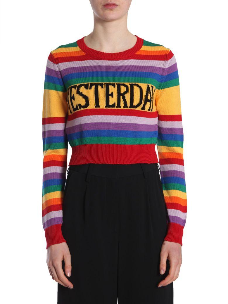 Alberta Ferretti Rainbow Sweater In Multicolor