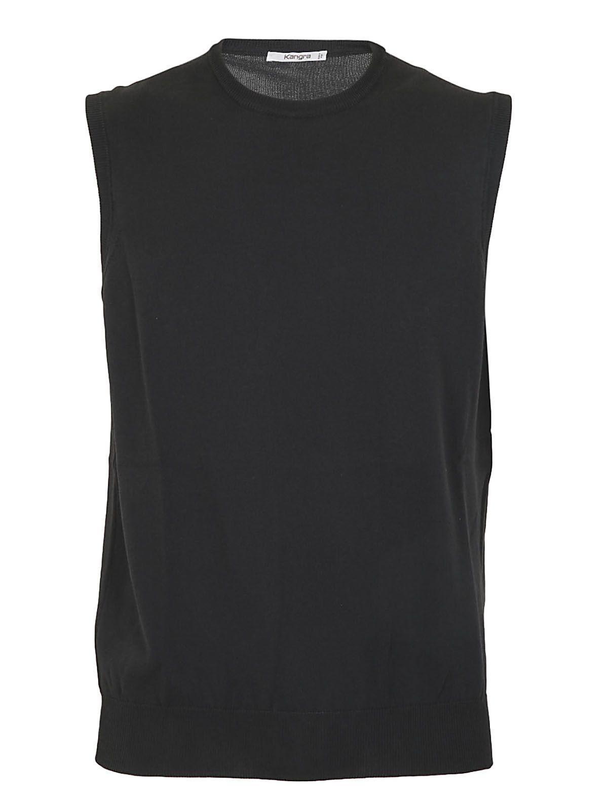 Kangra Sleeveless Sweater In Carbone