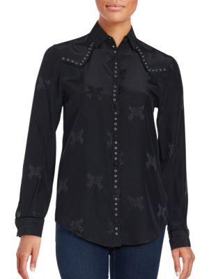 Zadig & Voltaire Solid Cotton Shirt In Black