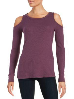 Splendid Cold-shoulder Thermal In Wild Mulberry