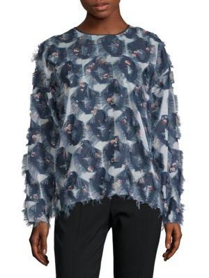 ChloÉ Floral Fringed Top In Multi