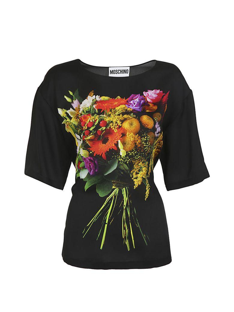 Moschino Printed Top In Black