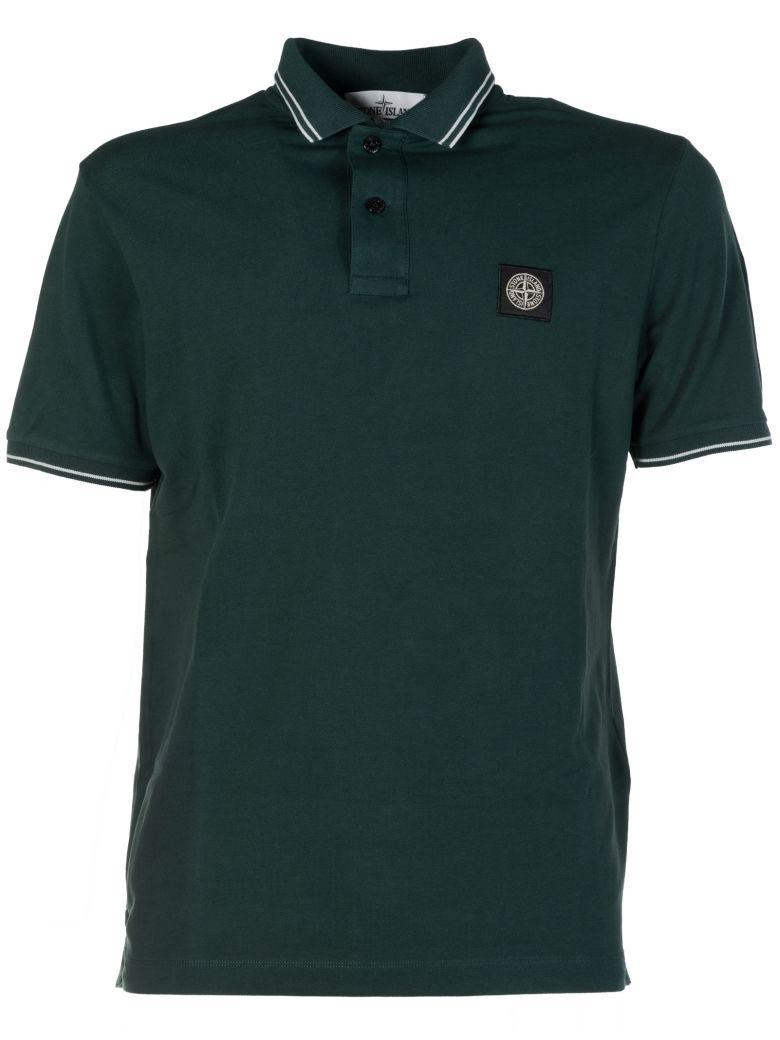 Stone Island Logo Patched Polo Shirt In V0059muschio