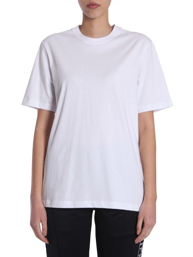 Msgm Oversize Fit T-shirt In Bianco