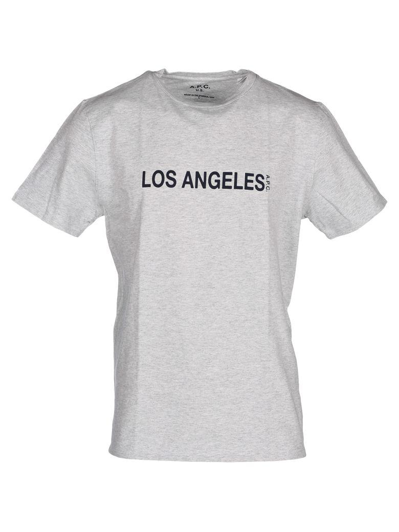 A.p.c. T-shirt Los Angeles H In Gris Chine
