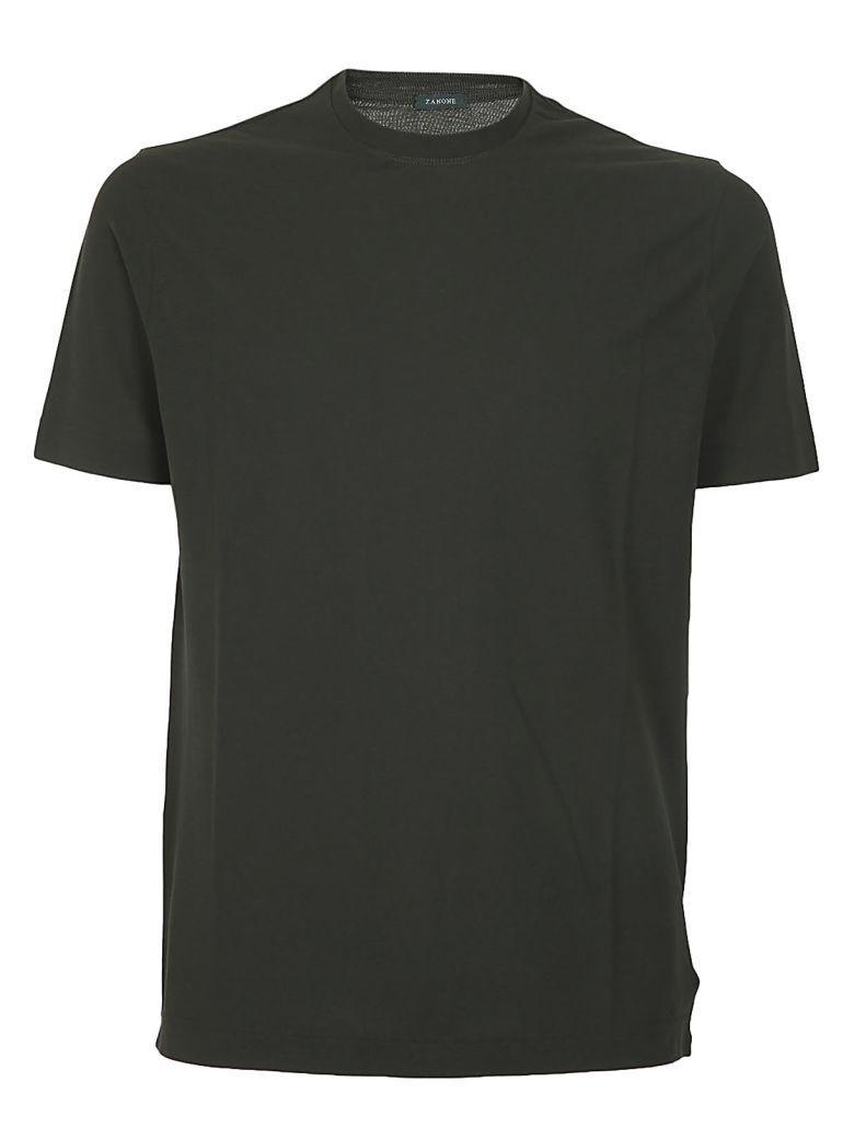 Zanone Classic T-shirt In Verde Scuro