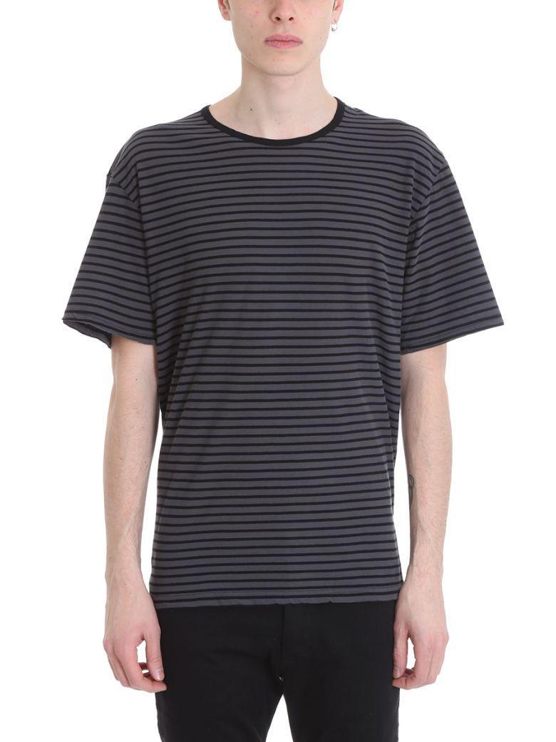 Attachment Grey-black Viscose T-shirt