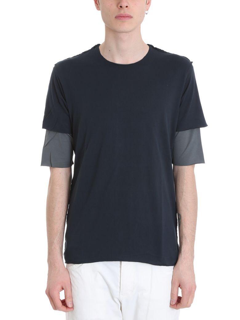 Attachment Blue Cotton T-shirt In Green