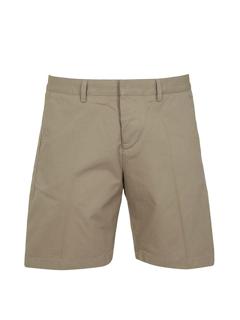 Ami Alexandre Mattiussi Alexandre Mattiussi Pleat Front Shorts In Beige