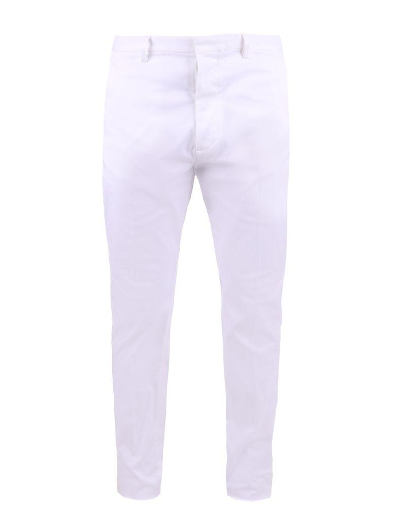 Dsquared2 White Stretch Trousers