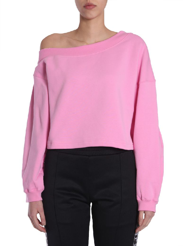 Msgm Cropped Sweatshirt In Rosa