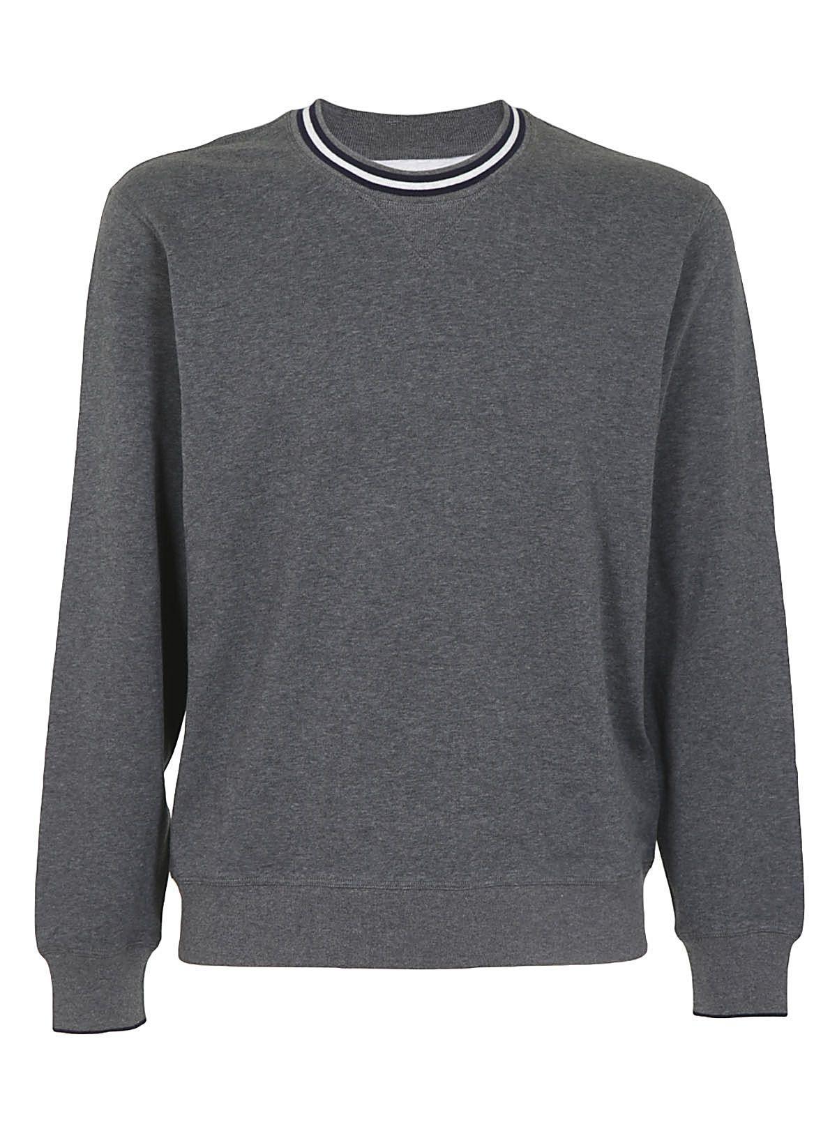 Brunello Cucinelli Knit Sweatshirt In Grigio