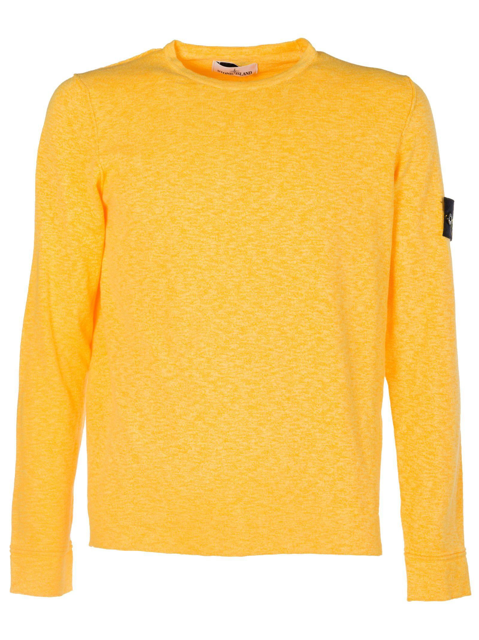 Stone Island Classic Sweatshirt In Yellow & Orange