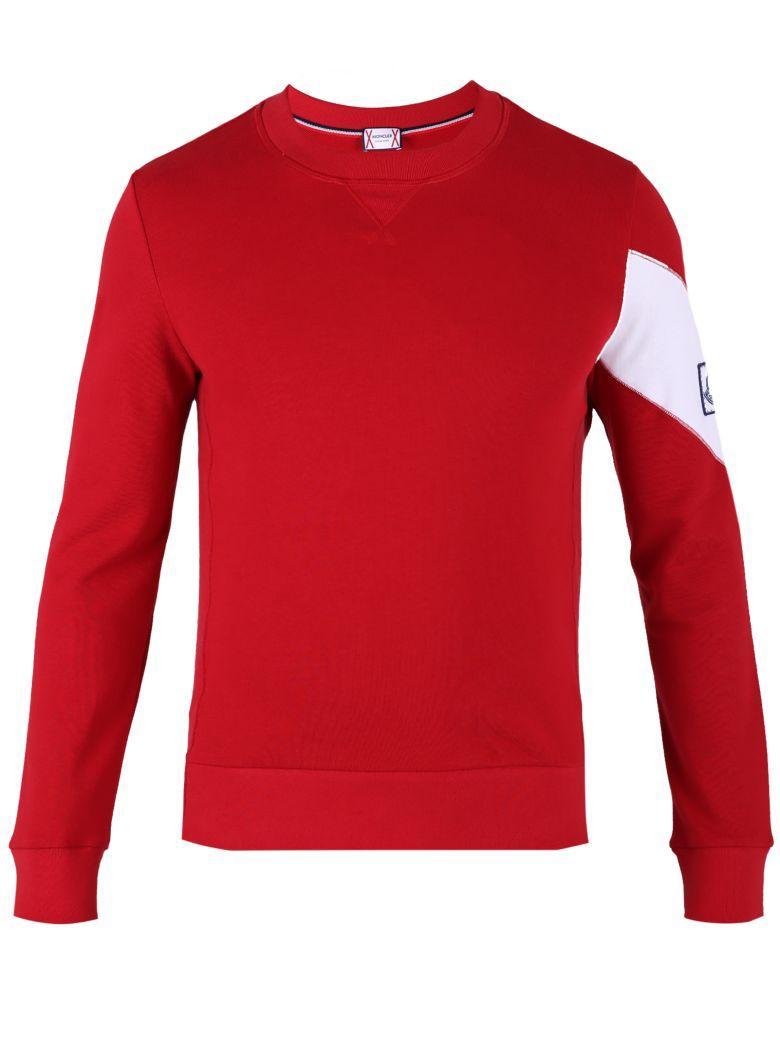 Moncler Gamme Bleu Red Logo Sweatshirt