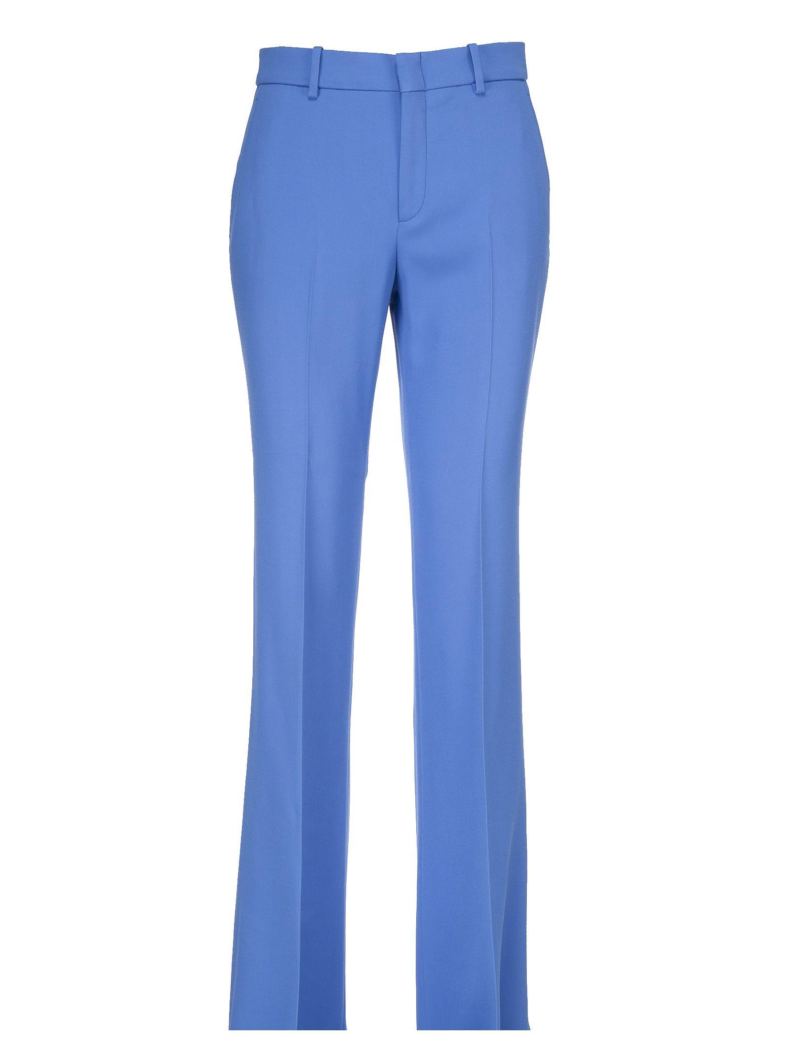 Gucci Flared Trousers In Blue