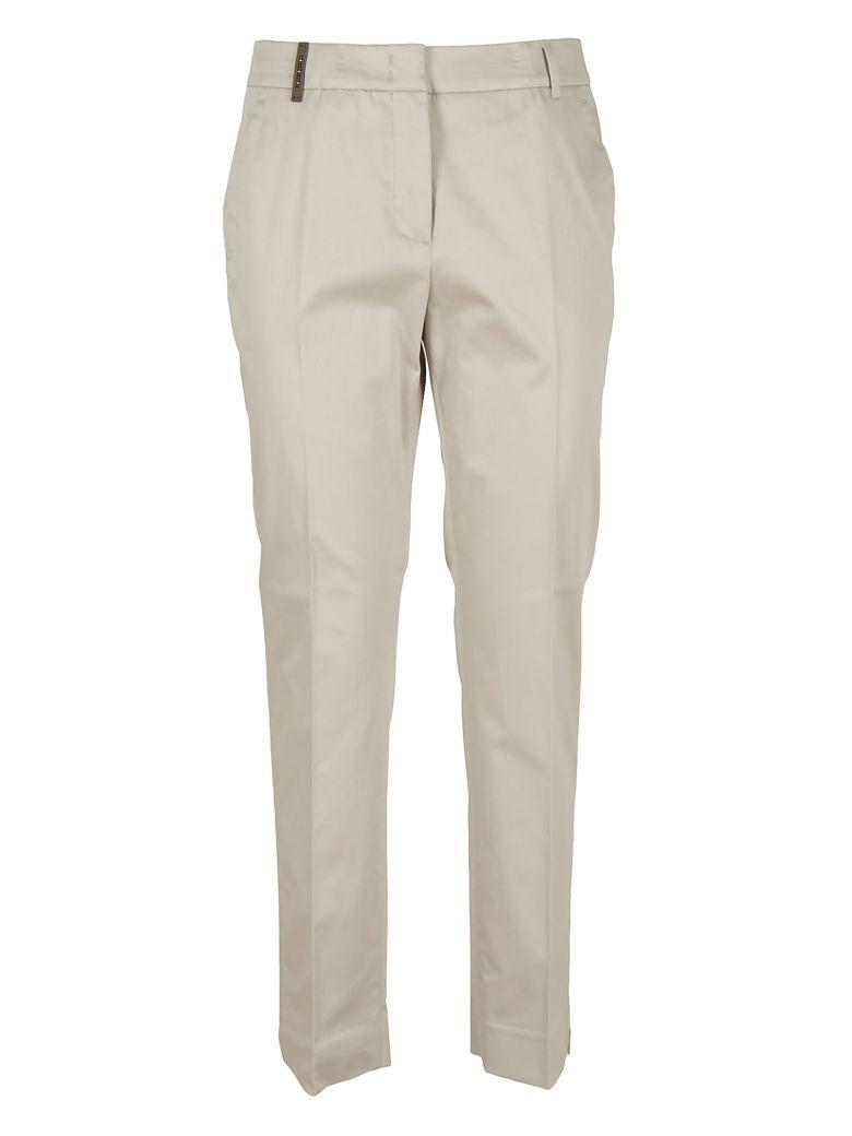 Peserico Regular Trousers In Beige