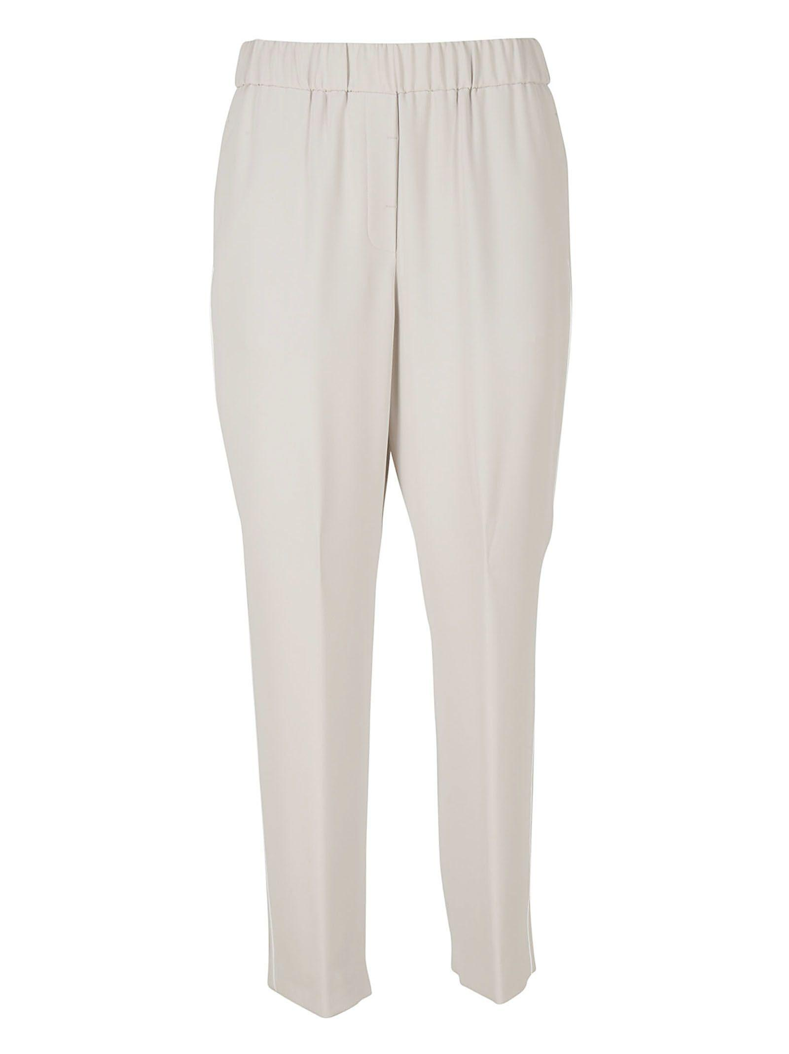 Peserico Trousers With Drawstring In Beige