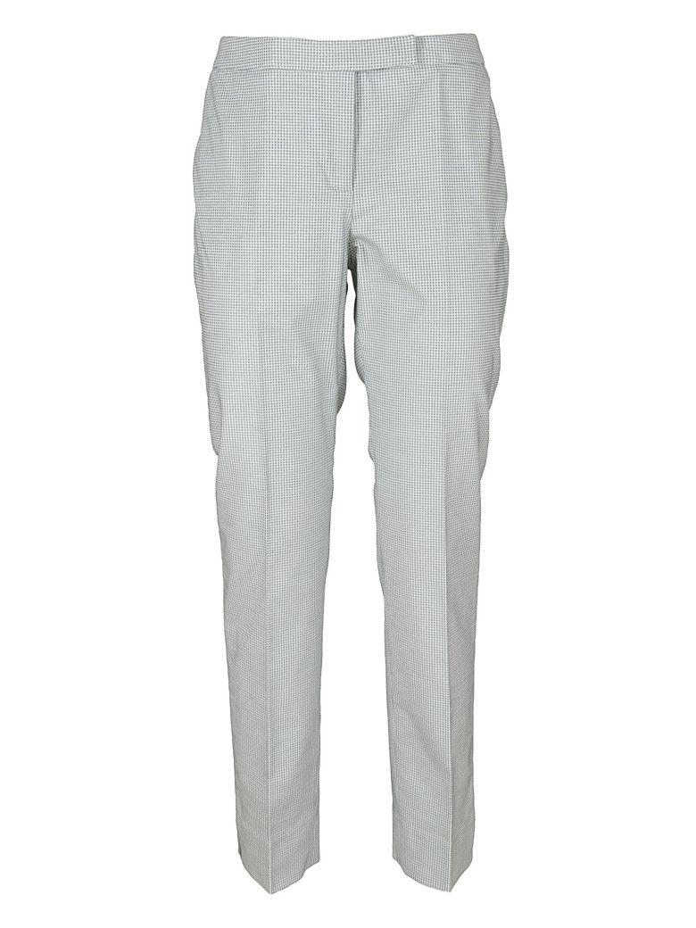 Peserico Vichy Trousers In Green