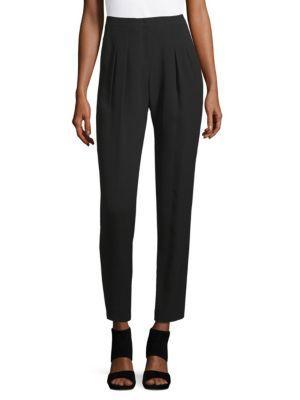 Akris Silk Pleat Pants In Black