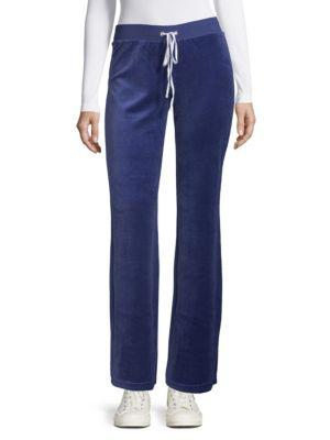 Juicy Couture Flared Drawstring Pants In Twilight Blue
