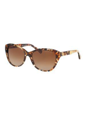 Michael Kors Rania I Cat Eye Sunglasses In Dark Brown