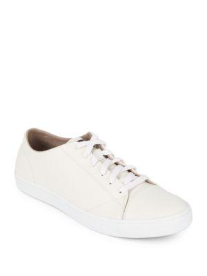 Cole Haan Trafton Leather Sneakers In Optic White