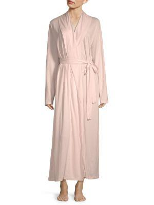 Skin Wrap Cotton Robe In Pearl Pink