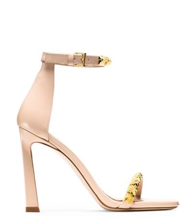 Stuart Weitzman The 100rosist In Blush Light Beige High-shine Leather