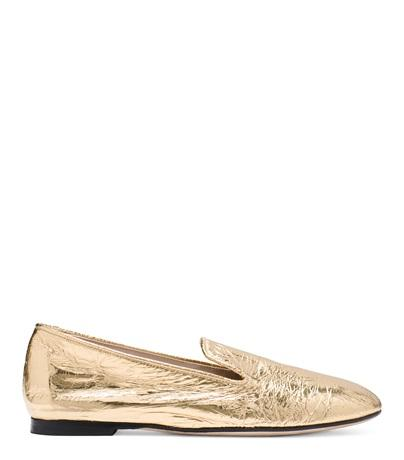 Stuart Weitzman The Myguy In Gold Crinkled Foil Leather