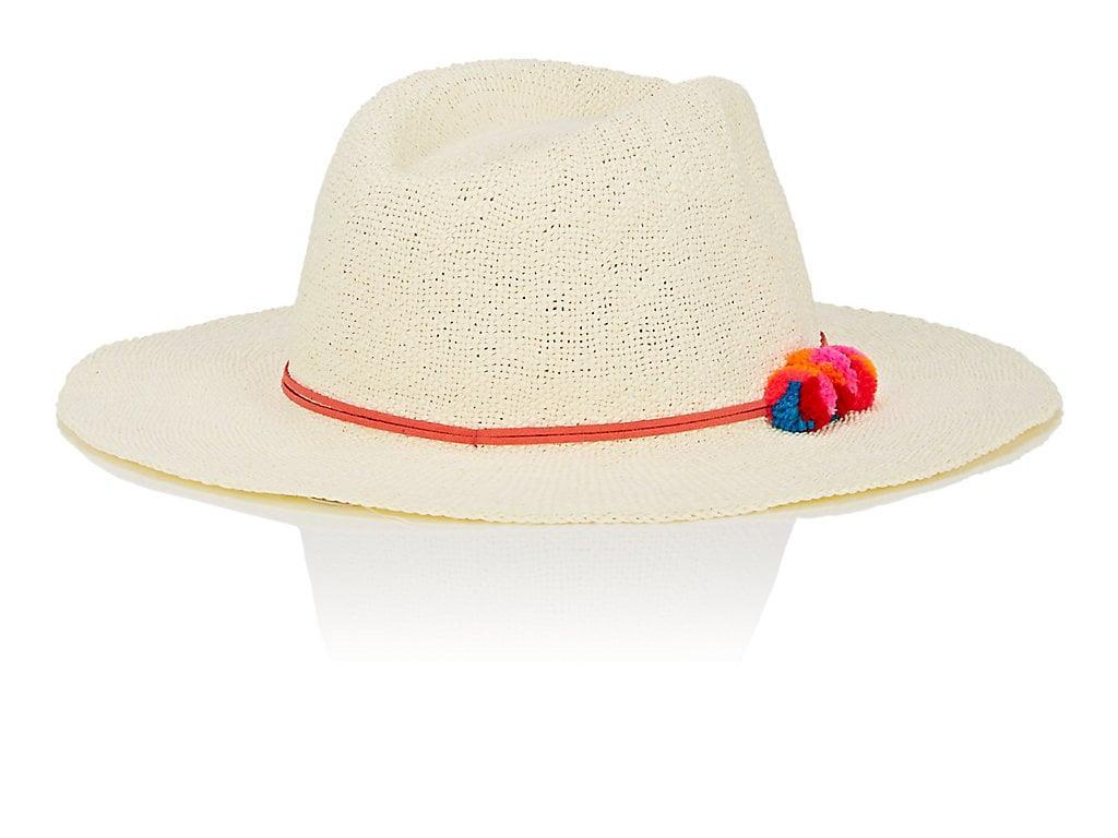 ae3758fd006 Barneys New York Pom-Pom-Detailed Paper Hat - Red