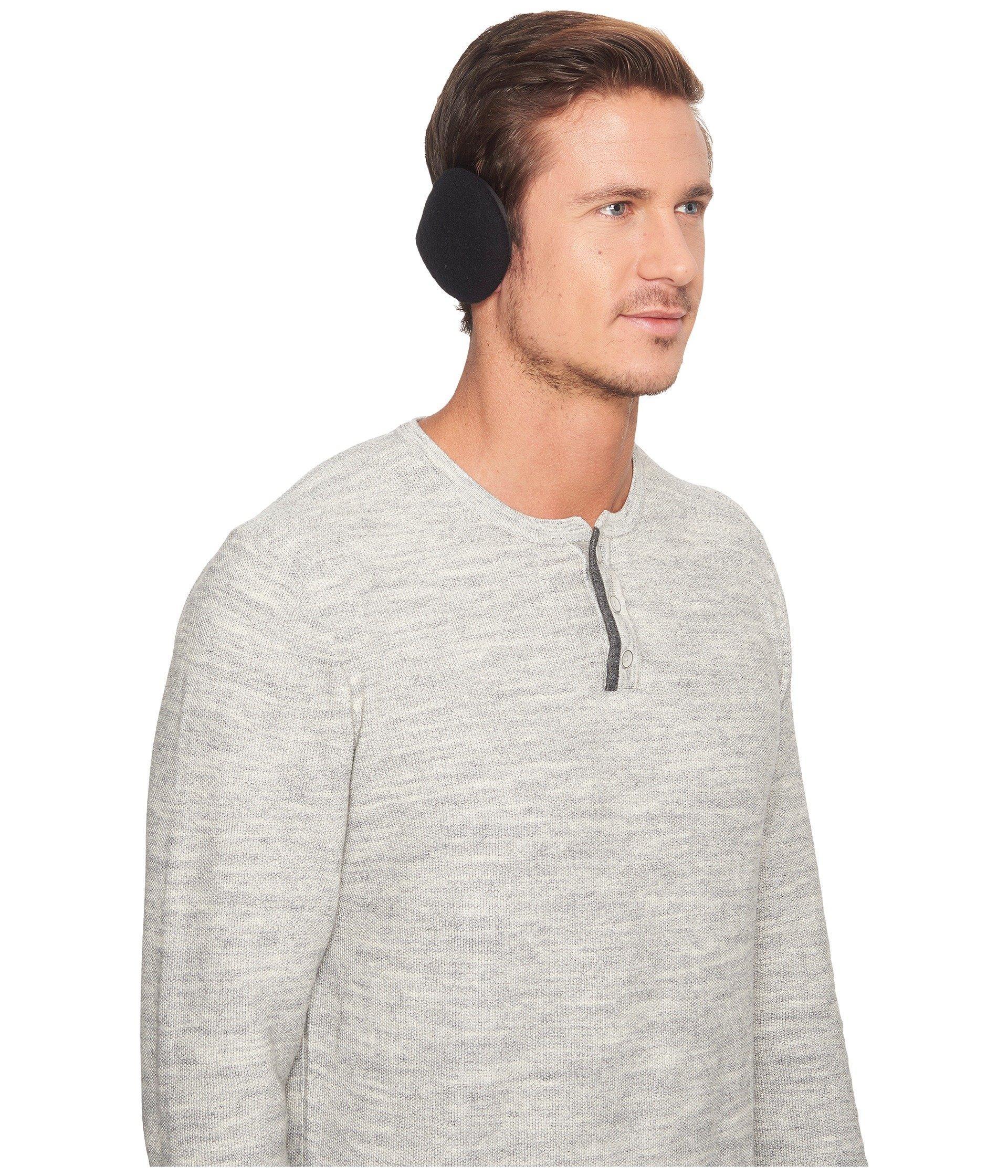 Ugg Fabric Wrap Around Earmuffs In Black