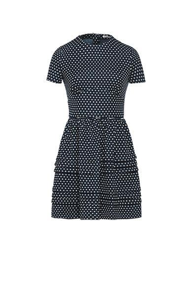 Miu Miu Polka-dot Jersey Dress In Blue
