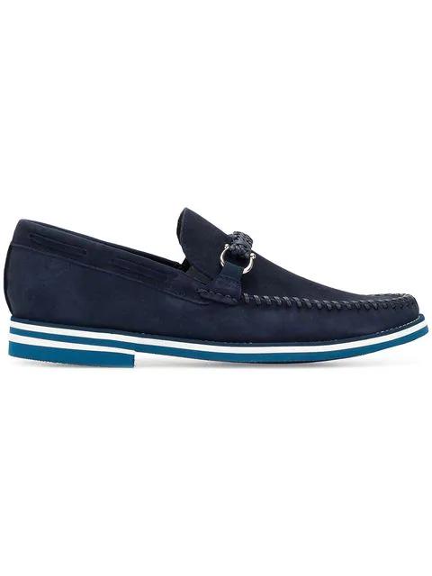 Baldinini Classic Slip-on Loafers In Blue