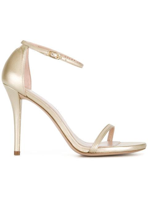 Stuart Weitzman Nudistsong Sandals In Metallic