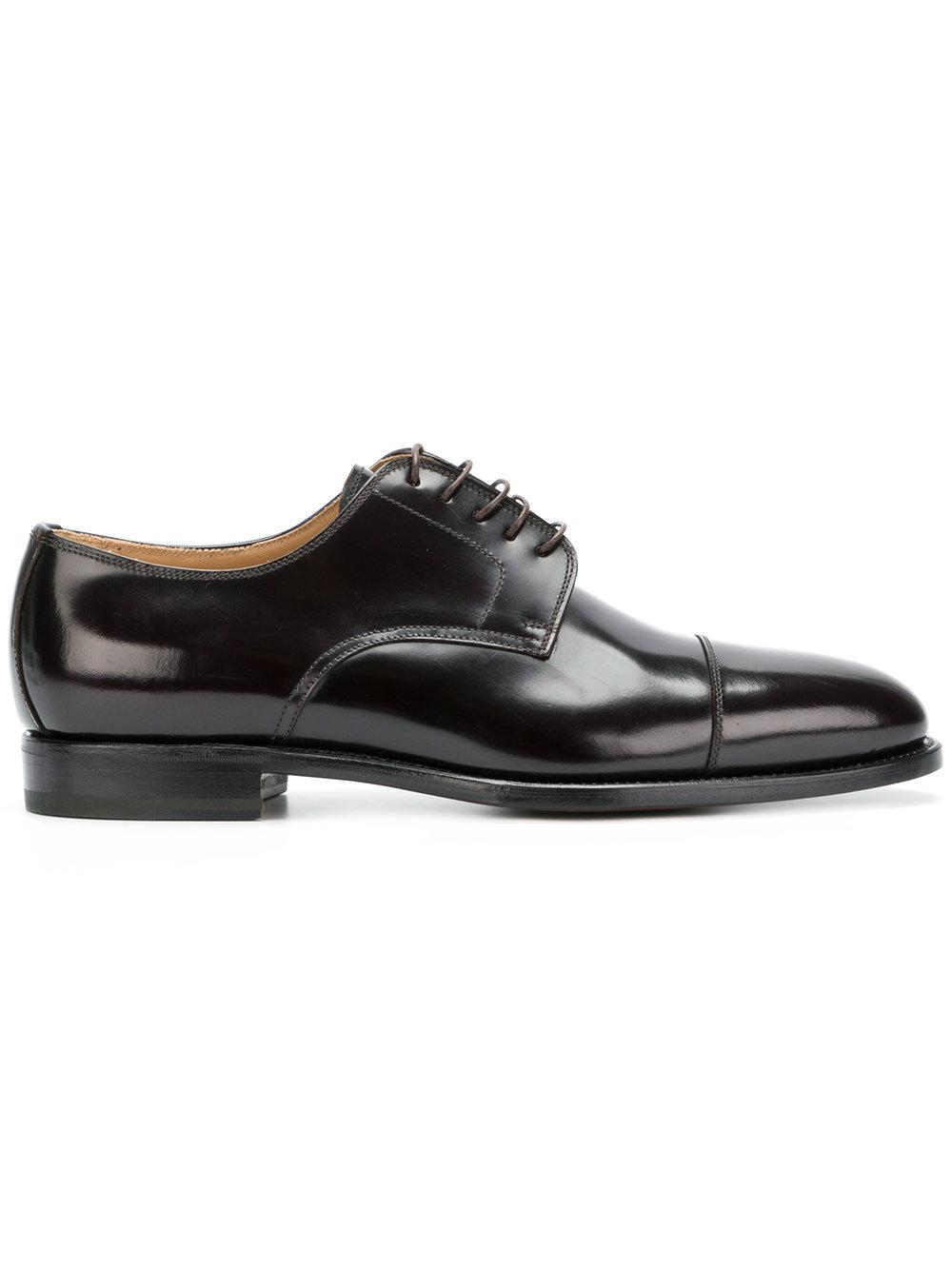 Kiton Classic Derby Shoes - Brown