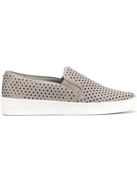 Michael Michael Kors Keaton Slip-on Sneakers - Grey