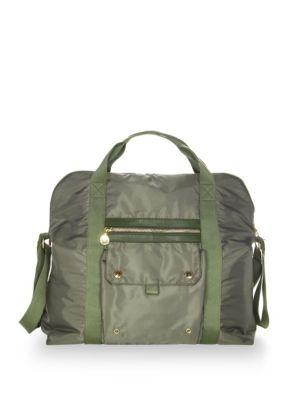 Stella Mccartney Fern Diaper Bag In Olive