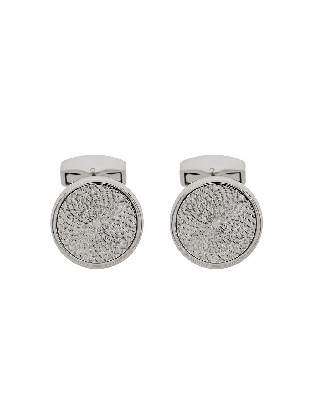 Tateossian Engraved Circular Cufflinks