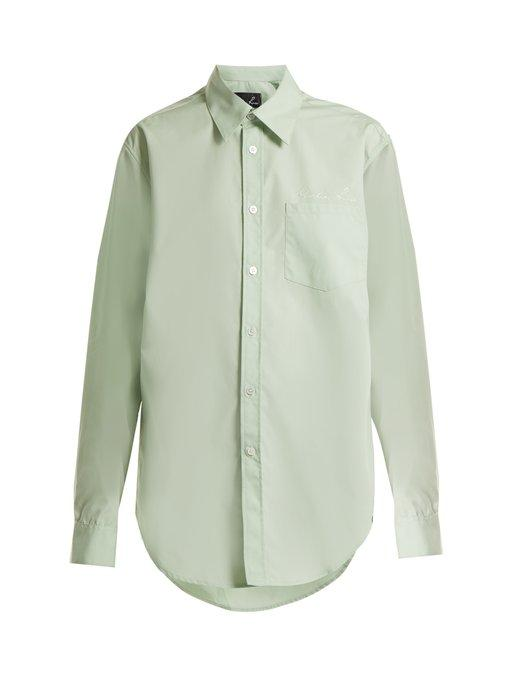Martine Rose Classic Cotton Shirt In Mint