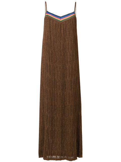 Roberto Collina Knitted Maxi Dress - Brown