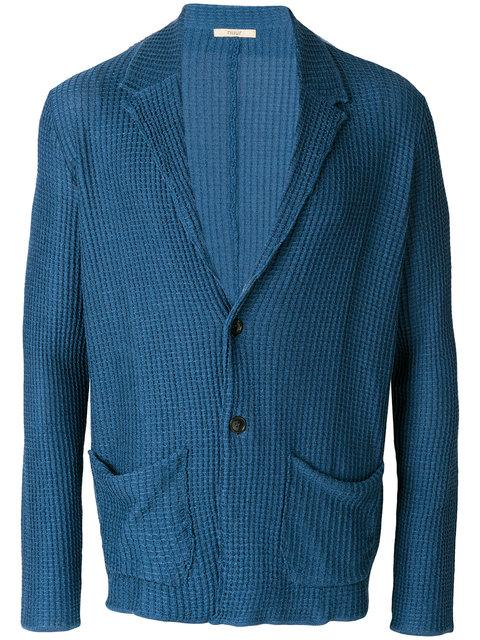Nuur Knitted Fitted Blazer In Blue