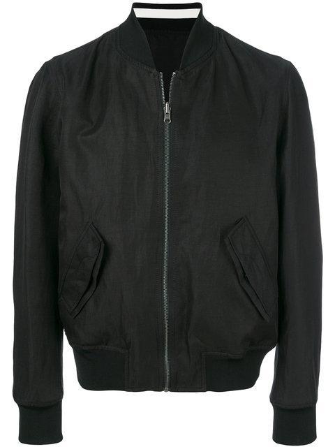 Ann Demeulemeester Reversible Bomber Jacket In Black