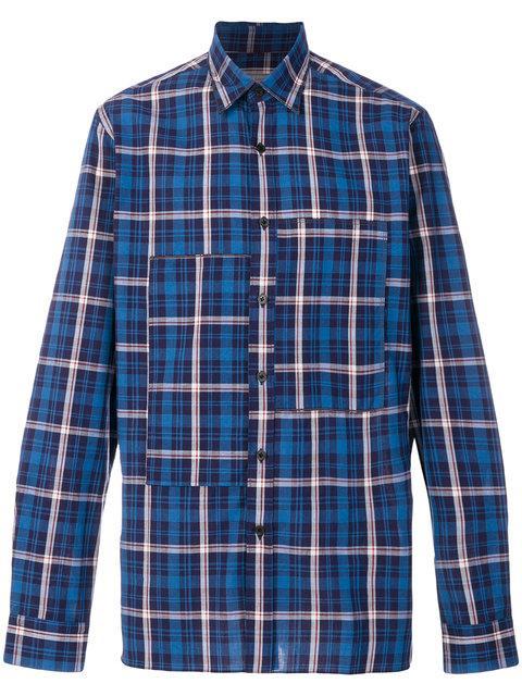 Lanvin Layered Plaid Shirt