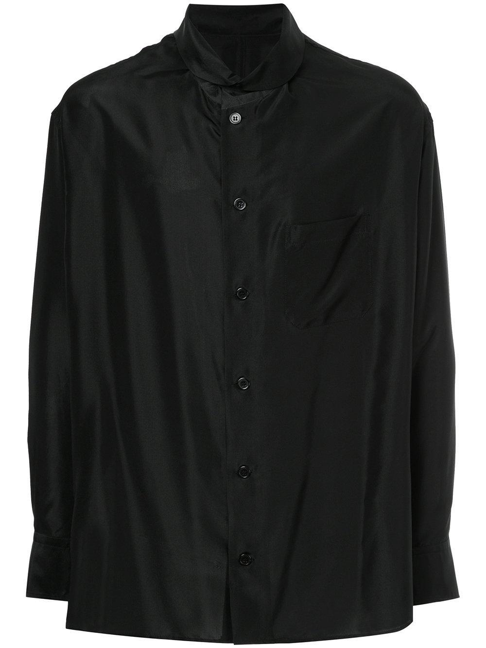 Yohji Yamamoto Round Neck Button Shirt